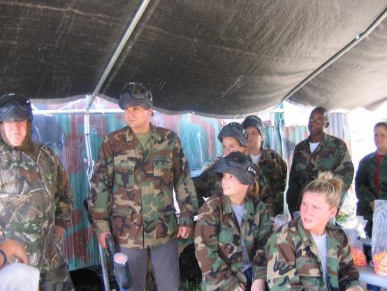 Paintball competition among Safari team members