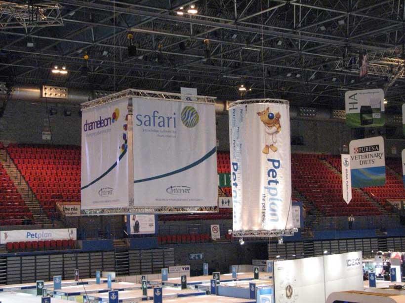 Large Box Banner with Safari Logo at Conference