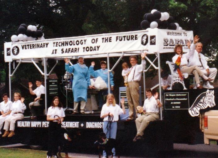 Safari's float in the League City Village Fair Parade