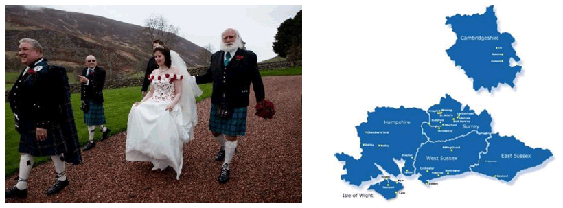 Dr. Garner & Dr. Mooney's new married life & Pet Doctors practices in counties of South England