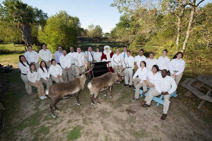Safari Team at Joe Moorman's Reindeer Farm for our yearly Christmas Card photo