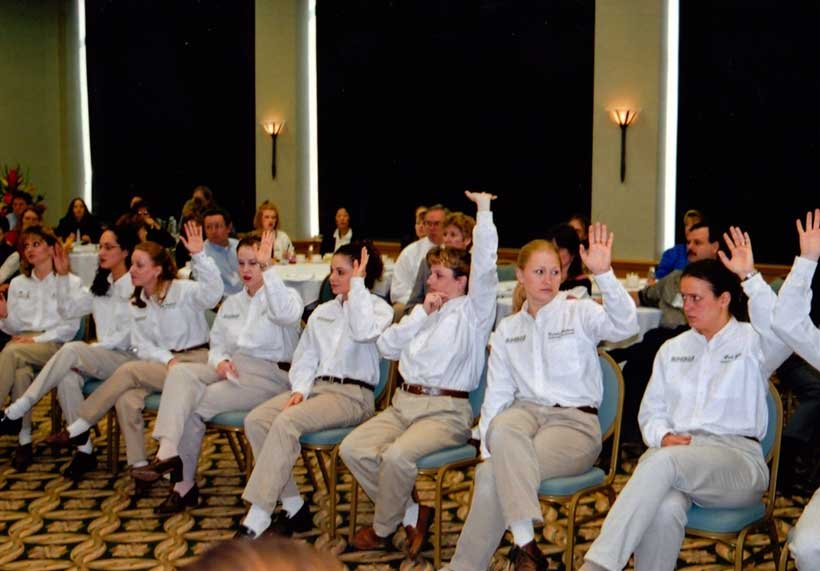 Safari Staff Answering Questions about the Safari System at one of the seminars held here at Safari
