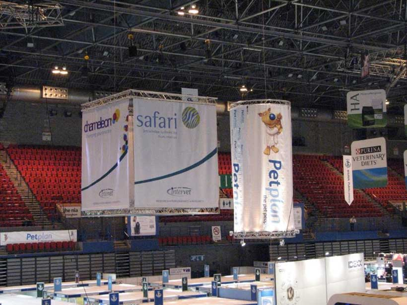 Large Box Banner with Safari Logo at Conference